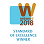 2018 Webaward for Outstanding Achievement in Web Development